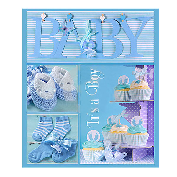 Альбом EVG 20sheet Baby collage Blue w/box